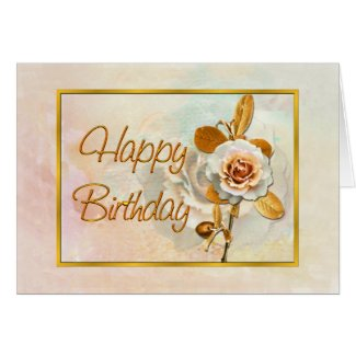 Beautiful Rose Birthday Card Card