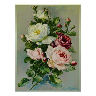Beautiful Rose Bouquet by Catherine Klein Poster