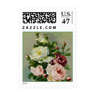 Beautiful Rose Bouquet Painting Postage