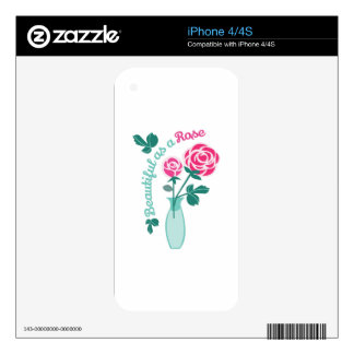 Beautiful Rose Decals For The iPhone 4S