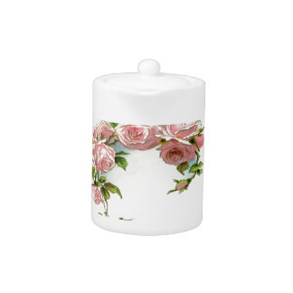 Beautiful Rose Design Teapot