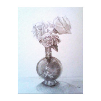 "Beautiful Rose drawing on art canvas by Ara 24""18"""