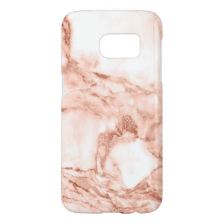 Beautiful Rose Gold Sparkle Marble Pattern Samsung Galaxy S7 Case