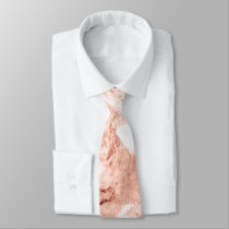 Beautiful Rose Gold Sparkle Marble Pattern Tie