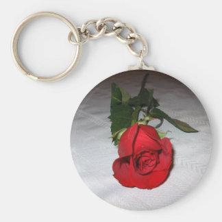 Beautiful Rose Basic Round Button Keychain