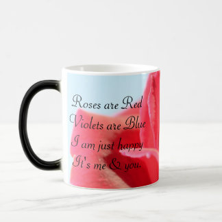 Beautiful Rose & Love Poem Magic Mug