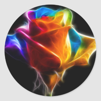 Beautiful Rose of Colors 4 Classic Round Sticker