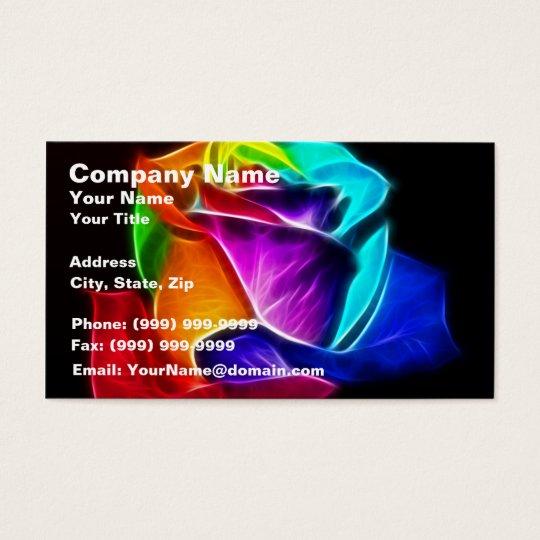Beautiful Rose of Colors 5 Business Card