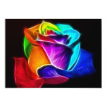 Beautiful Rose of Colors 5 Custom Announcements