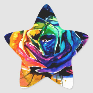 Beautiful rose star sticker