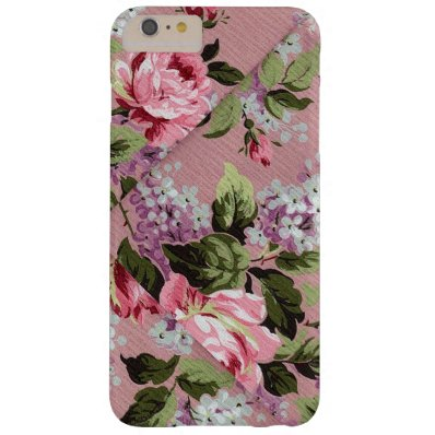 Beautiful Rose Victorian Floral Wallpaper Barely There iPhone 6 Plus Case