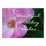 Beautiful Rose Wishes-customize any occasion Greeting Card