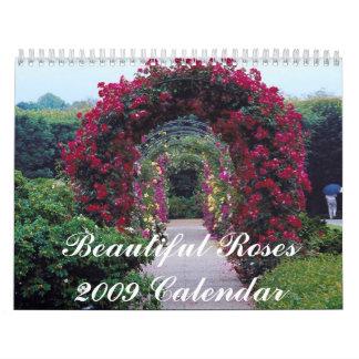 Beautiful Roses 2009 Calendar