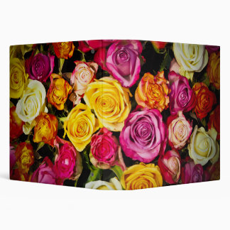 Beautiful Roses 3 Ring Binder