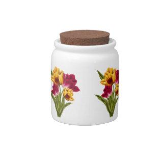 Beautiful Roses Candy Jar