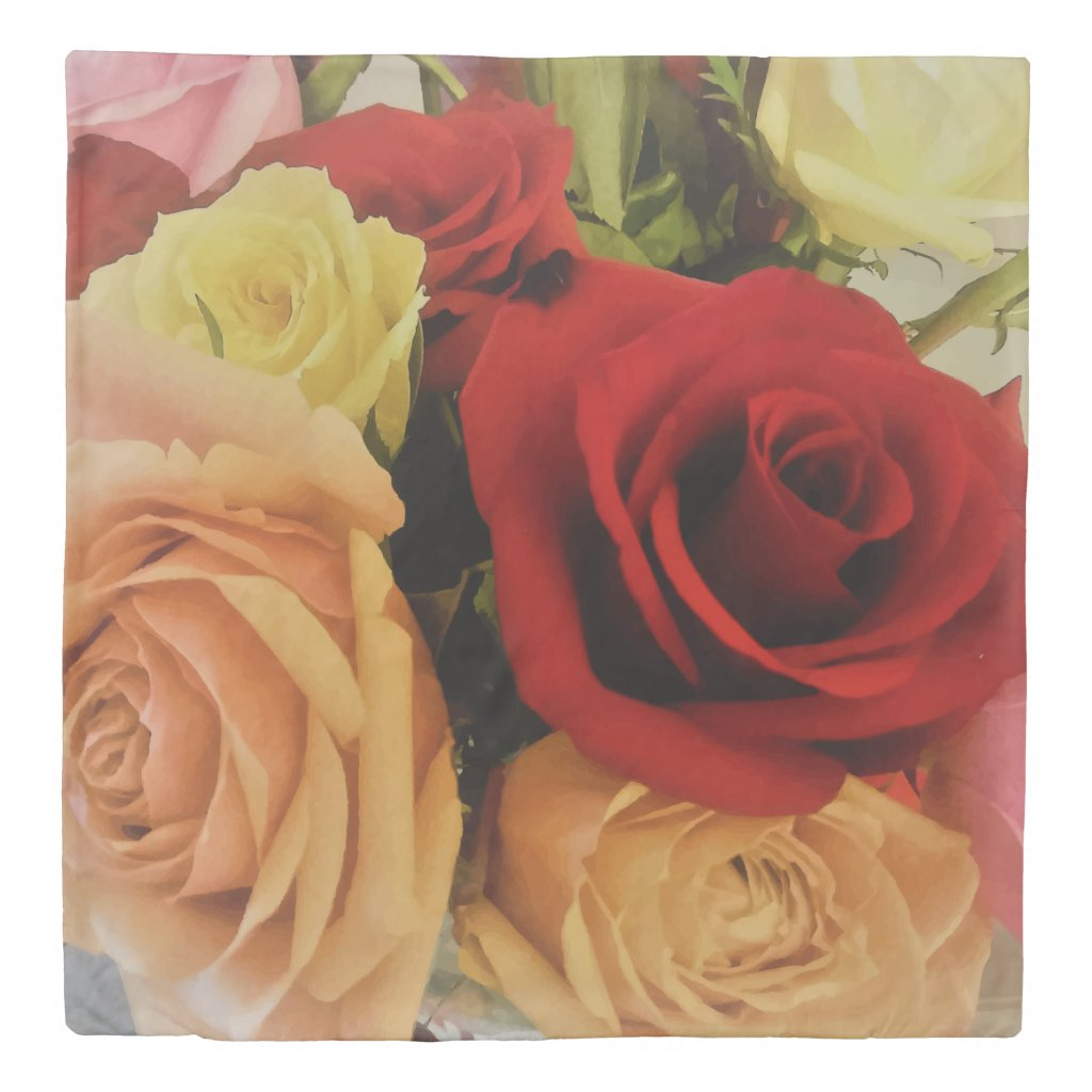 Roses Photo Print Design Duvet Cover