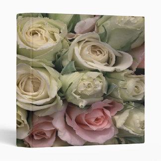 Beautiful Roses Pink White ~ Avery Binder 1 EZD