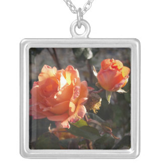Beautiful Roses Silver Plated Necklace