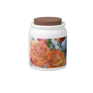 Beautiful Roses Storage Jar Candy Jars