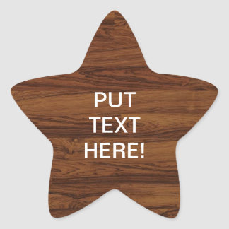 Beautiful Rosewood Star Sticker