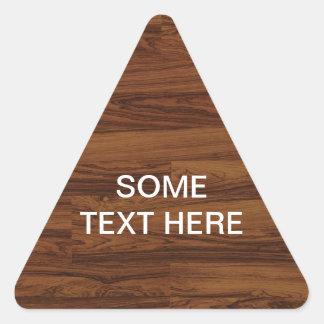 Beautiful Rosewood Triangle Sticker