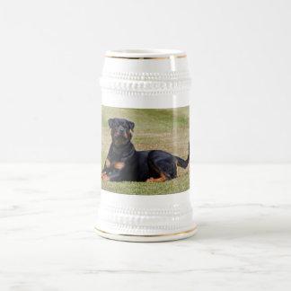 Beautiful Rottweiler dog beer stein, gift idea 18 Oz Beer Stein