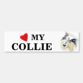 Beautiful Rough Collie dog art Bumper Sticker
