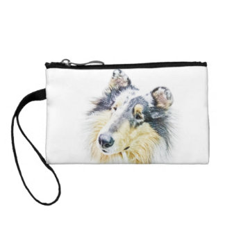 Beautiful Rough Collie dog art Coin Wallet