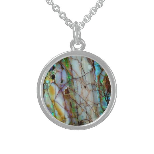 Beautiful Round  Custom Sterling Silver Necklace
