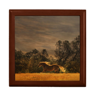 Beautiful Running Horse Art Tile Box