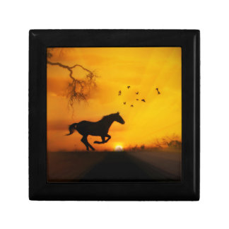 Beautiful Running Horse Keepsake Box