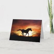 Beautiful Running Horse Note Card