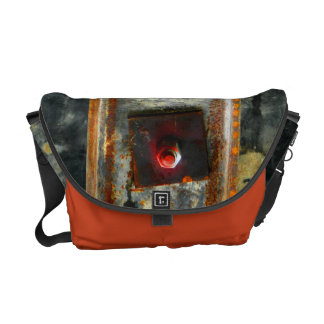 Beautiful rusted metal from construction site messenger bag