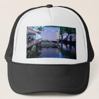 Beautiful Rustic Backview Reflections in Creek Trucker Hat
