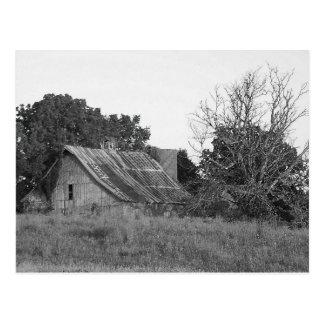 Beautiful Rustic Barn B & W Photo Near KCMO Postcard