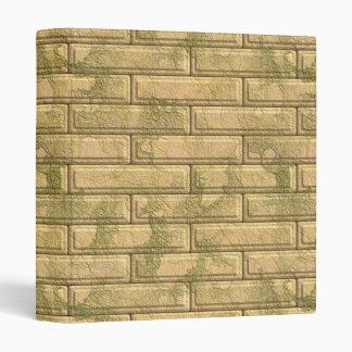 Beautiful Rustic Brick wall Texture Vinyl Binders
