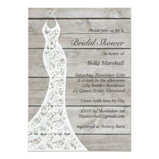 "Beautiful Rustic Bridal Shower Invitation 5"" X 7"" Invitation Card"