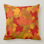Beautiful Rustic Fall or Autumn Leaves Throw Pillows