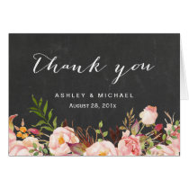 Beautiful Rustic Floral Chalkboard Thank You