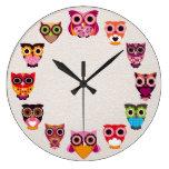 Beautiful Rustic Owl Wall Clock