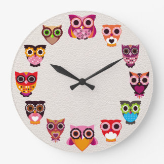 Beautiful Rustic Owl Wall Clock
