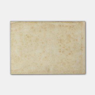 Beautiful Rustic Stained Antique Blank Old Paper Post-it® Notes