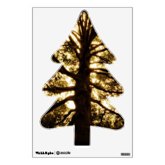 Beautiful Rustic Tree Silhouette Wall Decal