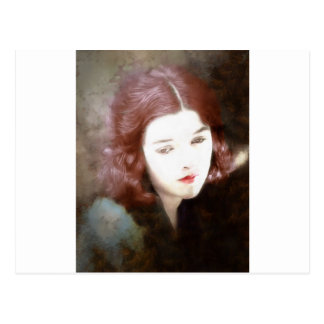 Beautiful Sad Woman Postcard