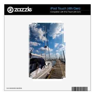 Beautiful Sailboat at Pier Skins For iPod Touch 4G
