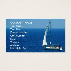 Beautiful Sailboat Business Card at Zazzle