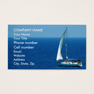 Beautiful Sailboat Business Card