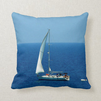 Beautiful Sailboat Throw Pillow