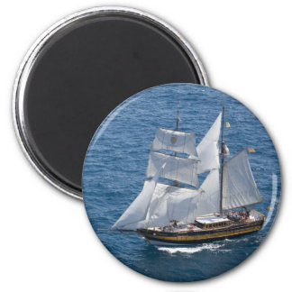 Beautiful sailing boat fridge magnet