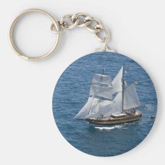 Beautiful sailing boat keychain